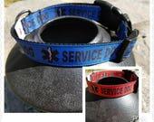 Medical Alert Service Dog Collar, Green in Training Dog Collar, Do Not Pet Yellow Dog Collar, Dog Collar, Service Dog Collar