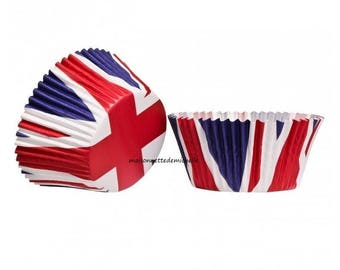 Caisettes muffin paper - union jack flag