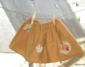 End of series skirt Tangerine Liberty 12 months