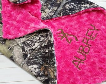 Personalized Camo Baby Blanket, Girl Camo Blanket, Minky Baby Blanket, Girl Baby Blanket, Camo Baby, Monogrammed Blanket