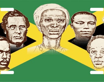Jamaica National Heroes Novelty License Plate