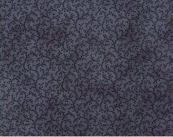 Blue Swirl Fabric by the Yard, Snowman Gatherings III, Primitive Gatherings, Blue Fabric, Winter Fabric, Snowball Swirls, 1211 22