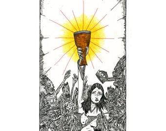Queen of Cups - Poster Print - The Tarot Restless