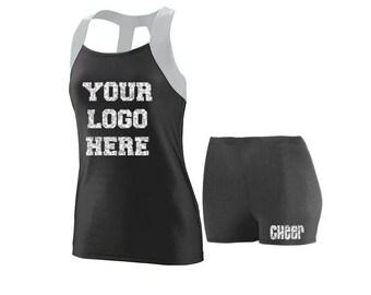 Cheer Practice Set Your Logo SILVER TANK