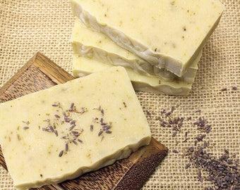 Lavender Mint Soap - All Natural Soap - Goat Milk Soap - Organic Soap Bar - Essential Oil Soap - Cold Process Soap - Homemade Soap