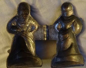 Rare Pewter Ice Cream Mold Old Mother Hubbard Gourmet Butter Mold Foodie Chocolate Mold Vintage Nursery Rhyme