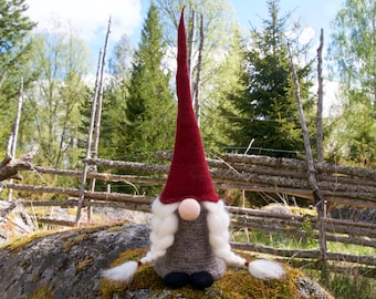 Swedish gnome, tomte, girl gnome, jultomte, nisse, Swedish christmas gnome, scandinavian gnome, scandinavian christmas decoration