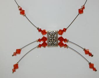 the 1 Choker necklace indian red bicone beads
