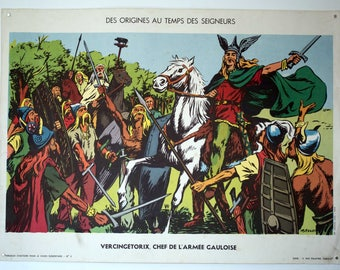 French School Poster 50s - recto verso