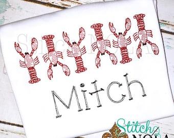 Crawfish Vintage Stitch, Crawfish Vintage, Crawfish Boil Shirt, Crawfish Embroidery, Toddler Crawfish Shirt