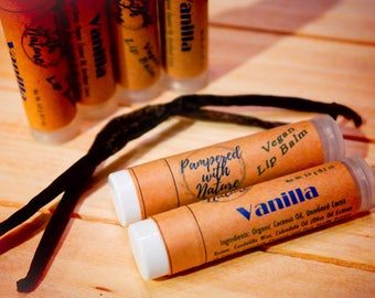 Vanilla Natural Vegan Lip Balm