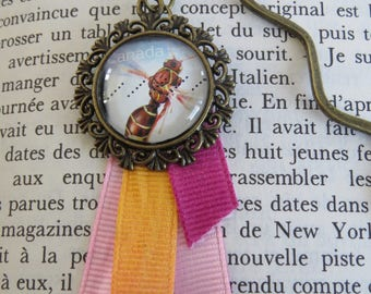 Bookmark bronze stamp from Canada genuine recycled (bee)
