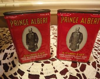 Prince Albert Tins/Vintage Tobacco Tins/Vintage Prince Albert Cigarette Tobacco Tins/Vintage Prince Albert Tins/Tins/Smoking/Cigarettes