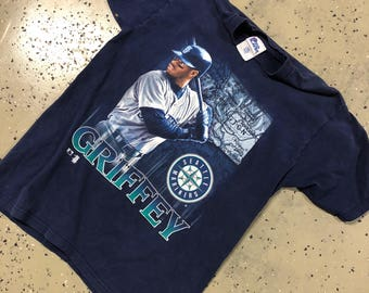 Vintage MLB 90s Seattle Mariners Ken GriffeyJr All Over Print Graphic T XL 18-20