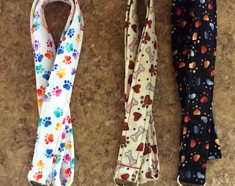 Pawprints Fabric Key Lanyard -Camera Strap~Gift for under 6 dollars