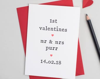 1st Valentines Card - Valentine's Day Card - Card for Wife - Card for Husband - Valentines Card for Husband - Valentines Card for Wife