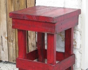 Sale Small RED End Table, Side Table, Nightstand, other colors available!!