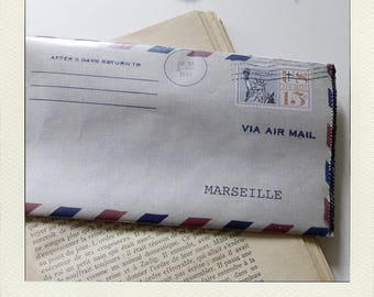 "Pocket envelope ""airmail"""