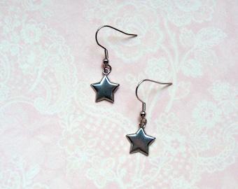 Earrings star asterisk stainless steel