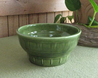 Greenery Haeger Pottery Vintage Planters and Pots Small Round Green Planter