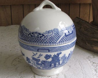Blue Willow Sugar Bowl Progression Made in Spain Ironstone Vintage Dinnerware and Replacements