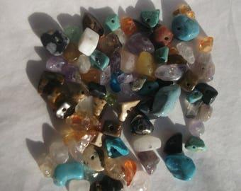 Genuine 10 various stones semis precious chifps