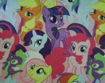 Fabric by the 1/2 Yard - My Little Pony Fleece