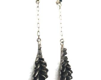 Stegosaurus Earrings with Topaz