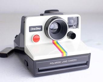 Polaroid One Step Instant Land Camera Rainbow Stripe - SX-70 Film Camera