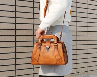 Leather Shoulder Bag, Brown Leather Bag, Leather Crossbody Bag, Leather satchel, Leather Handbag, Gift For Her, Weekender, Personalized Bag
