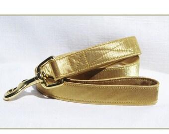 Dog Wedding Leash~Antique Gold Satin Leash~Wedding Dog Attire~Dog Tuxedo~Dog Ring Bearer~Dog Wedding Leash~Dog Wedding~Gold Dog Leash~~