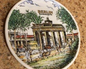 Vintage German Berlin Souvenir Plate