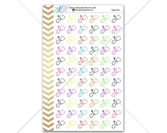 Stethoscope Stickers for planner, calendar! Functional planner stickers doctor sticker functional sticker medical sticker #SQ00490