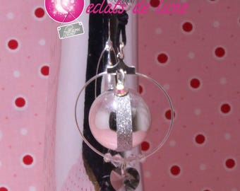 Bola pregnancy genuine Princess Black diamond with Pearl and swarovski rhinestones