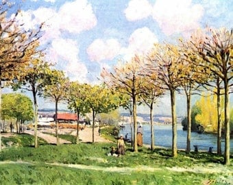 """""""The Seine at Bougival"""" Sisley placemat"""