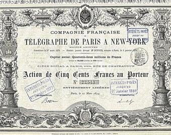 Laminated placemat bearer Telegraph de Paris New York