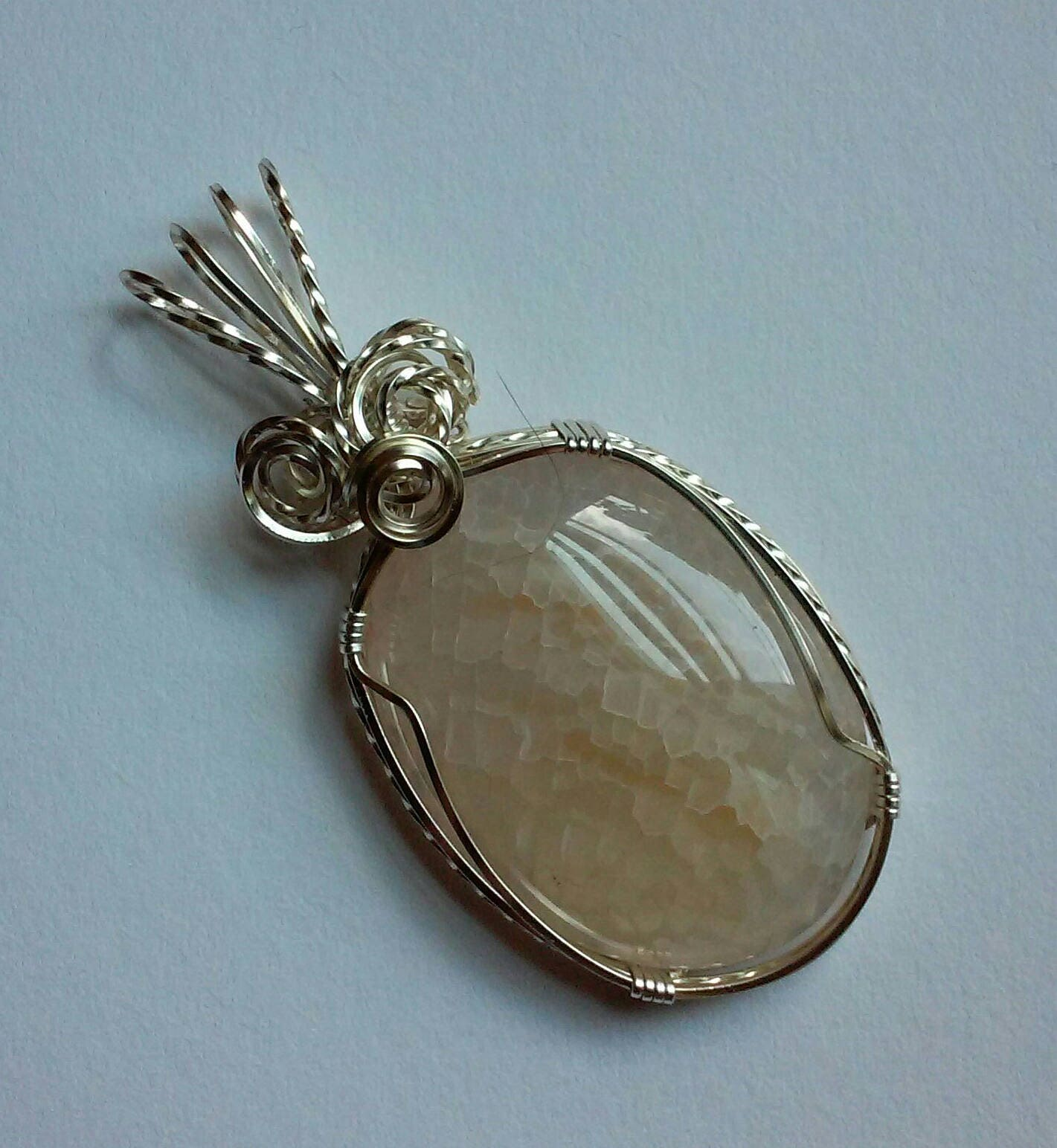 Dragons Vein Agate, Wire Wrapped Pendant, Wire Wrapped Jewelry, Wire ...
