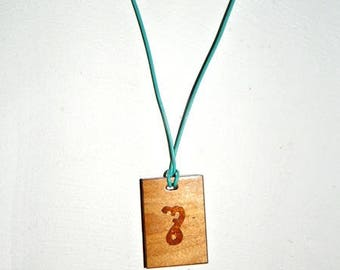 Necklace wooden letter s theban alphabet