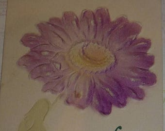 ON SALE till 6/30 Purple Daisy Many Happy Returns of the Day Antique Postcard