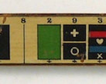 Colorotone vintage advertising printers ruler artist drafting antique collectible