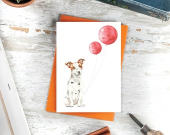 Terrier Greeting Card - Terrier Art - Terrier Card - Terrier lover - Dog Lover Card - Terrier Portrait - Jack Russell Terrier