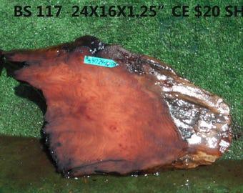 BS417  Redwood  burl slab