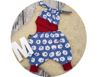 Newborn baby set, gift, bloomers, hat, node cap, harem pants, pants, baby pants, baby, Mitwachsen pants, aircraft clouds, Star