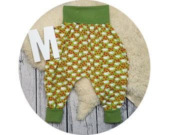 Pants, Jersey pants, Mitwachsen trousers, harem trousers, harem pants, baby pants, baby, sheep, sheep, mower, lawn