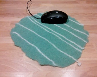Felted wool mouse pad