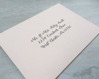 a7 envelope address printing envelope guest return address digital printed calligraphy wedding - Wedding Invitation Return Address
