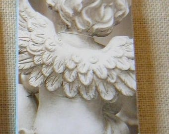 Bookmark / bookmark pattern back Angel - Dimensions 17 x 5 cm