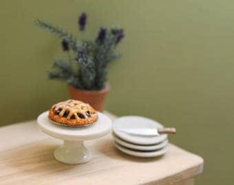 Dollhouse Miniature Blueberry Tart
