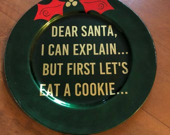 Cookies for Santa plate READY TO SHIP