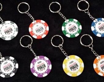 Keychain / bag official POKER WSOP token charm